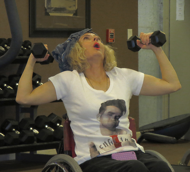 Morrisey and Magda at the gym