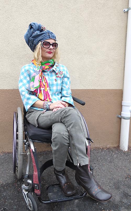 Outside Dunkin Donuts wearing a turban