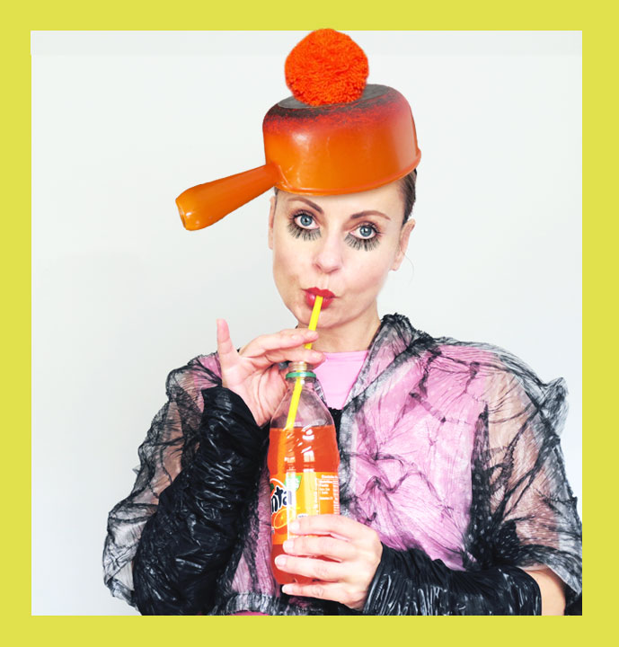 Magda-wearing-pot-on-head-DIY-fashion