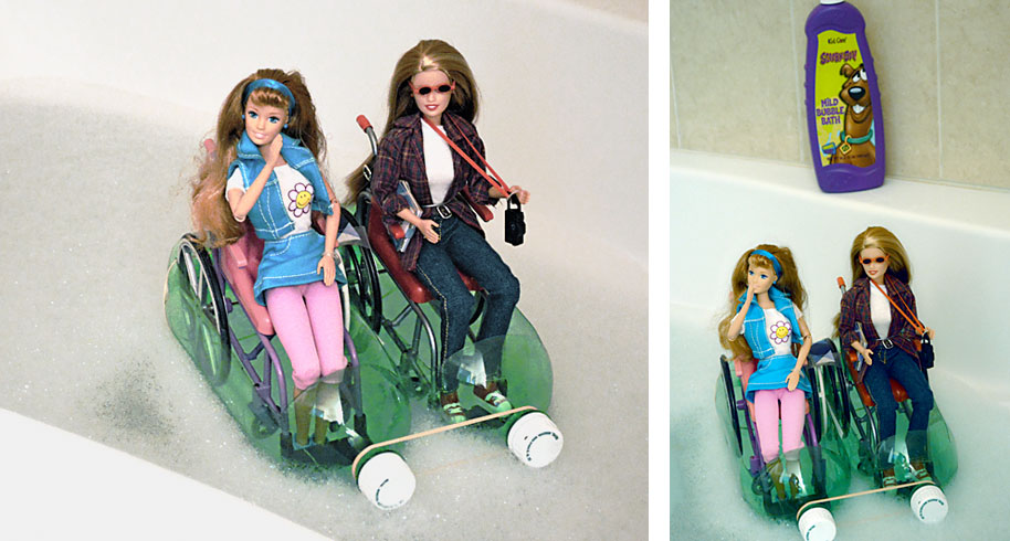 Wheelchair-Barbies-in-Boats-Bubblebath