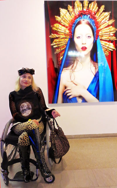 Prettycripple at Gaultier Brooklyn exhibit