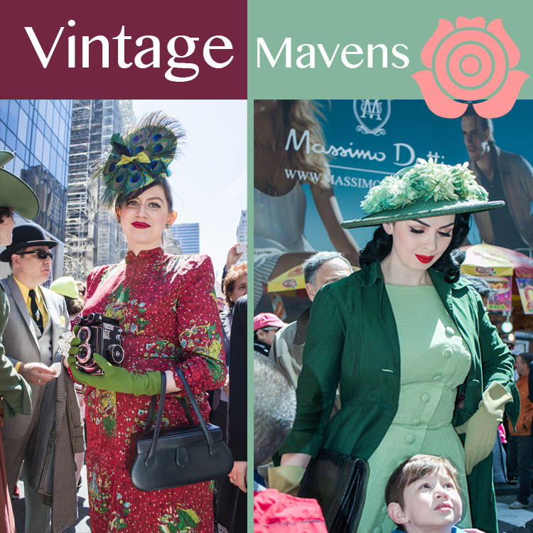 BEST DRESSED  vintage mavens at the NY Easter Hat Parade 2014