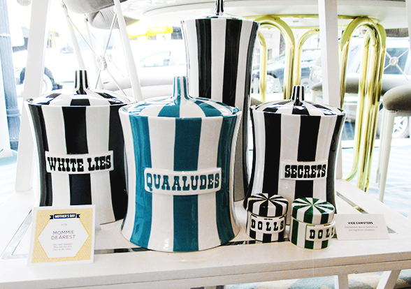 Jonathan Adler qualudes and secrets ceramic canisters