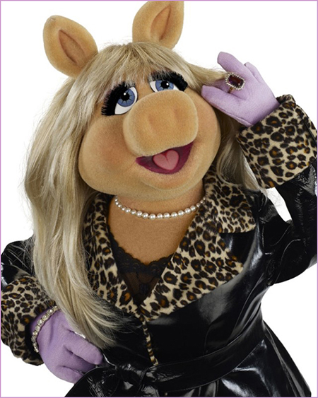 Miss Piggy in the Muppets Most Wanted