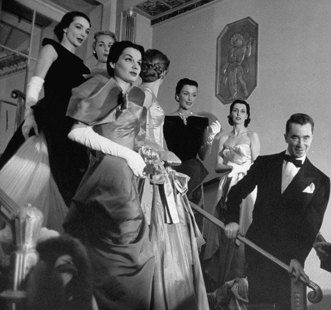 Charles James and Models b/w