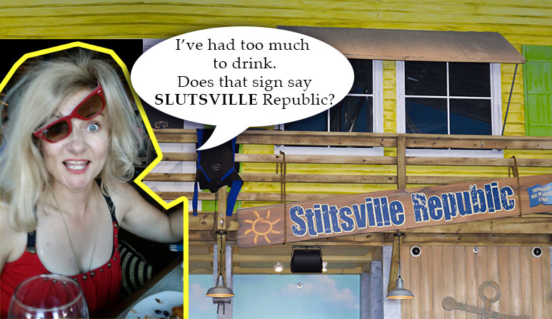 Slutsville sign at Margaritaville Atlantic City NJ