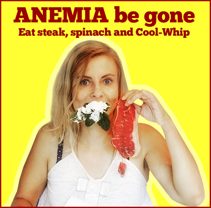 anemia poster eat steak and spinach