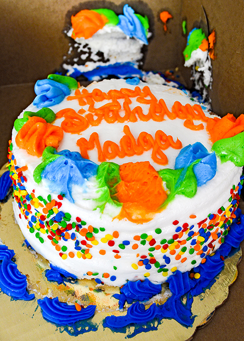 Mispelled birthday cake