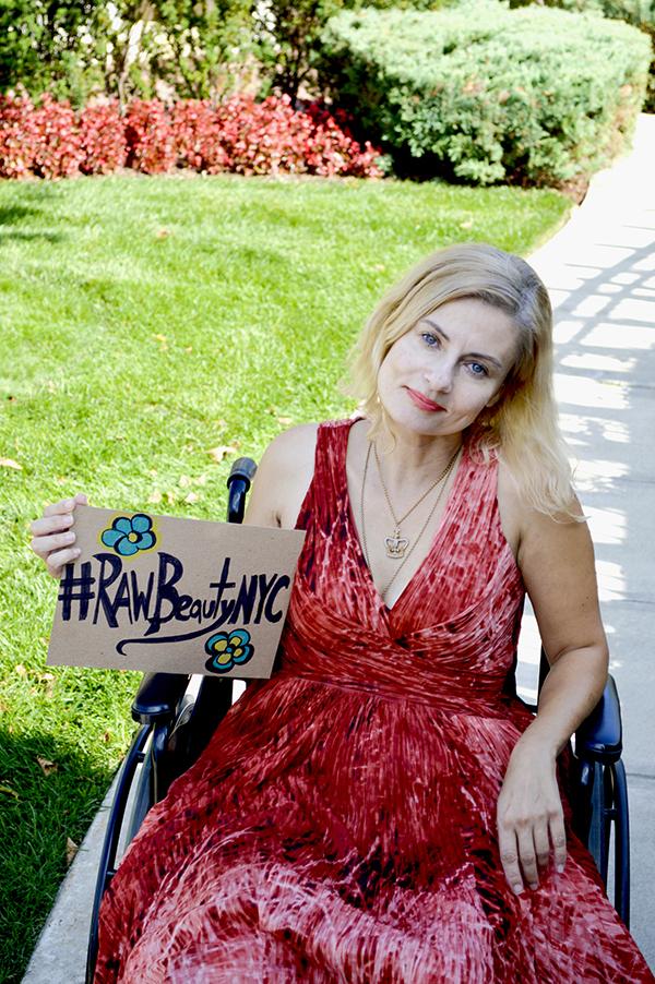 Wheelchair disabled woman #RawBeautyNYC
