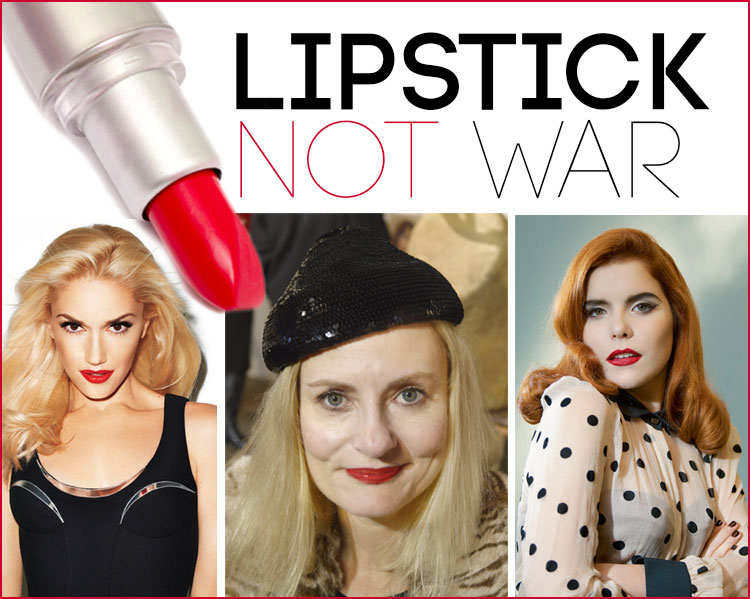 Gwen Stefani, Magdalena of Pretty Cripple and Paloma Faith - Lipstick NOT War
