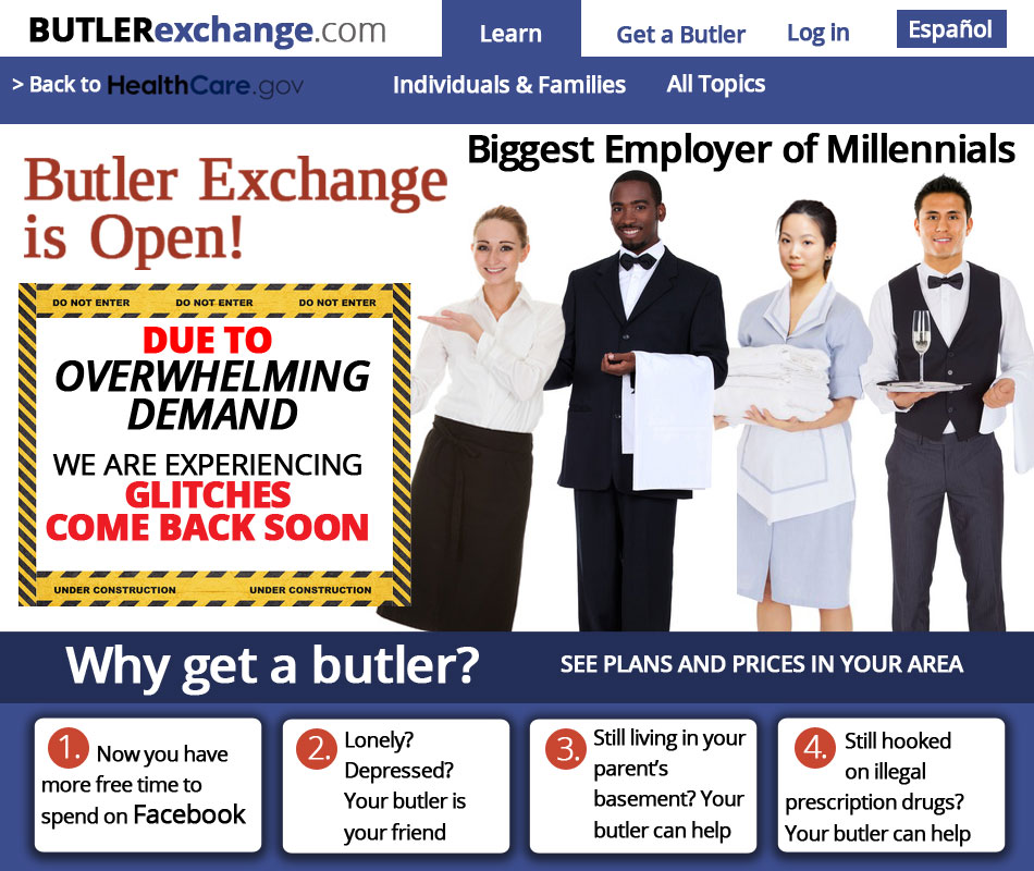 Butlers in America - the new Obama social entitlement that will employ Millennials